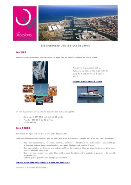 thumbnail of Newsletter-Juillet